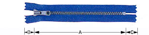 Closed-end zipper