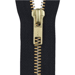 Dual color metal zipper